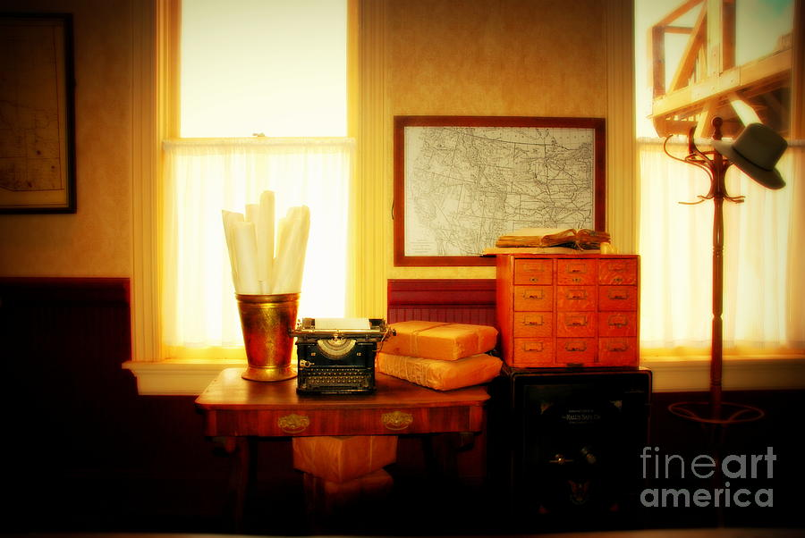 The Office Photograph - The Office Old Tuscon Arizona by Susanne Van Hulst