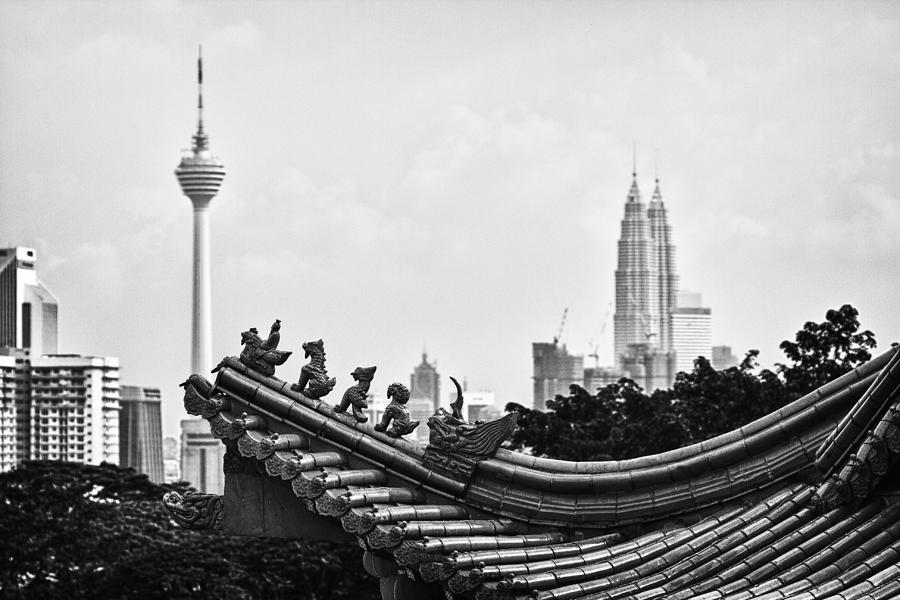 B&w Photograph - The Old And The New by Zoe Ferrie