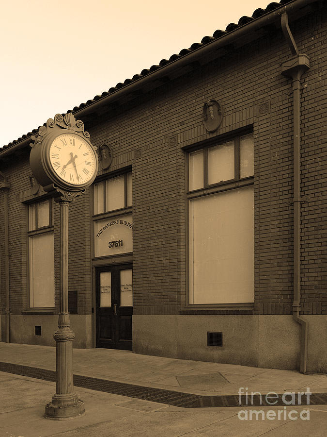 Bayarea Photograph - The Old Bankers Building - 5d18429 - Sepia by Wingsdomain Art and Photography