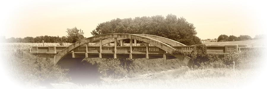 The Old Bridge in sepia by David Dunham