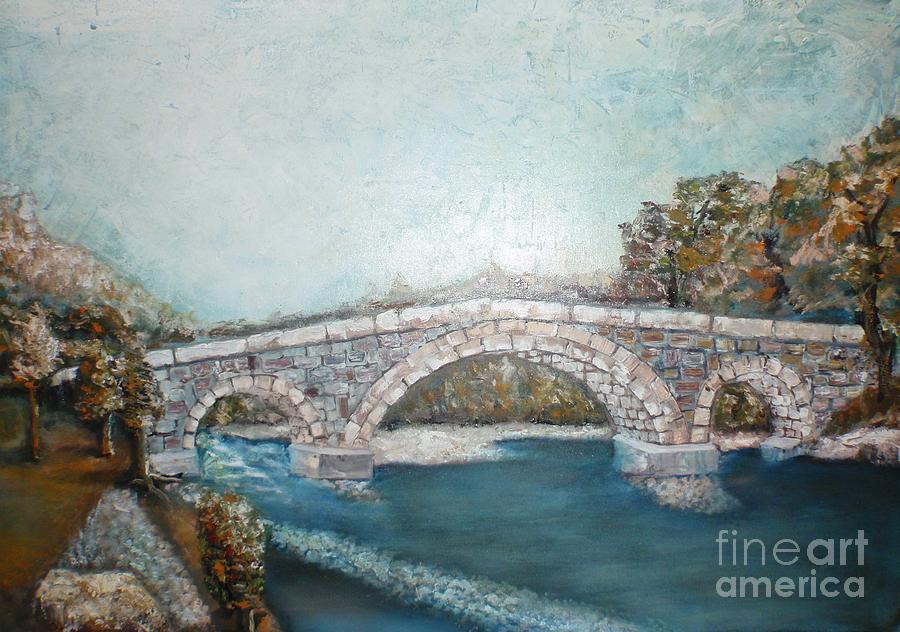 The Old Bridge Painting by Misko Obradovic