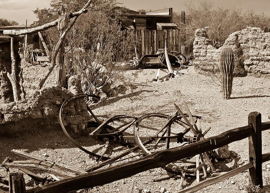 Bygone Photograph - The Old Bygone West by Douglas Barnett
