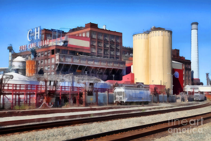 Transportation Photograph - The Old C And H Pure Cane Sugar Plant In Crockett California . 5d16770 by Wingsdomain Art and Photography