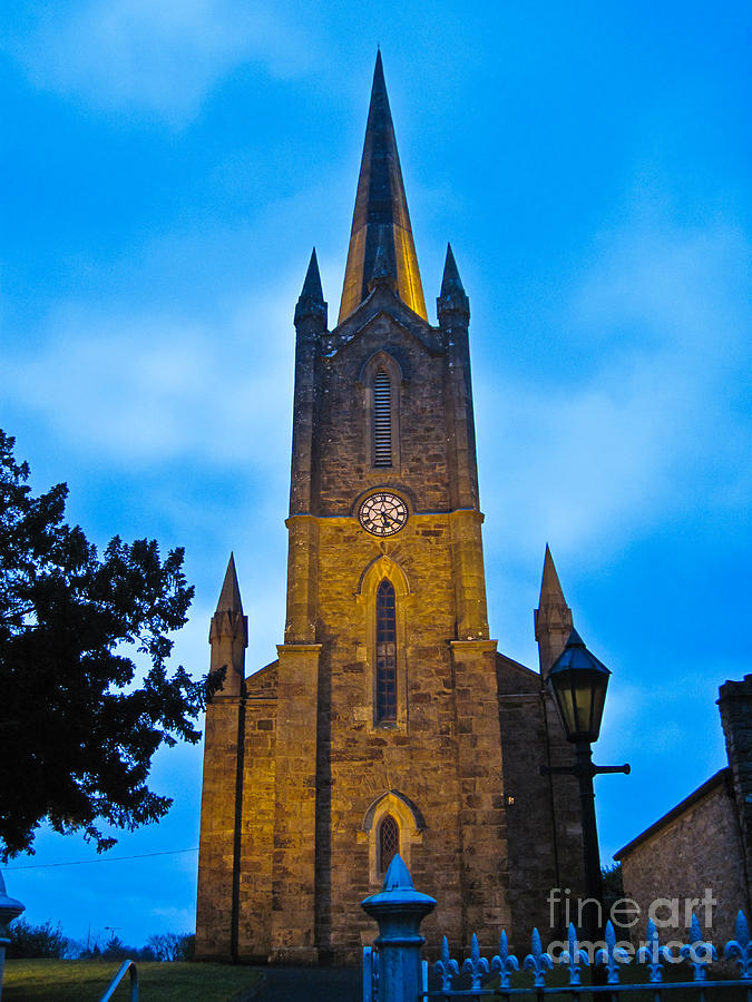 Ireland Photograph - The Old Church At Donegal Town by Black Sun Forge