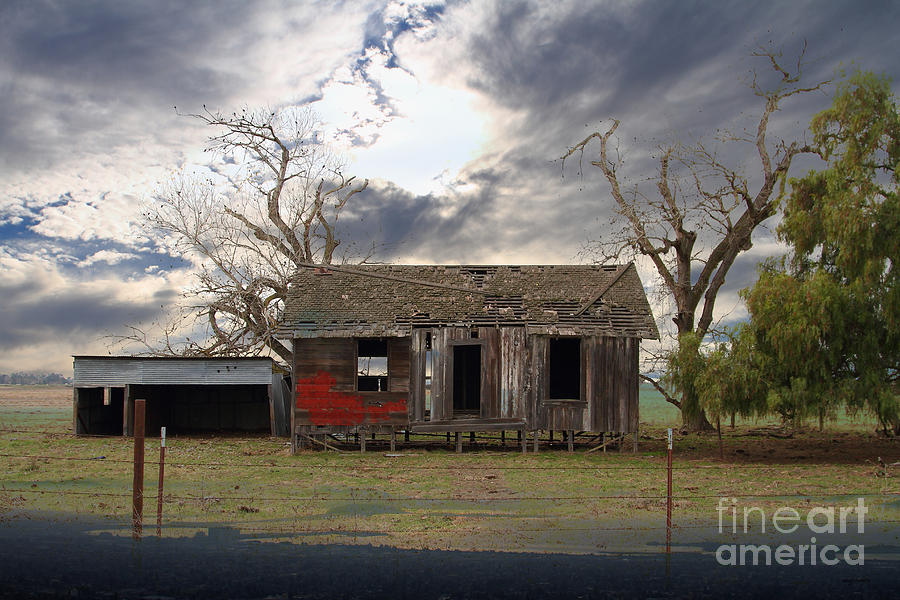 Dream Photograph - The Old Farm House In My Dreams by Wingsdomain Art and Photography