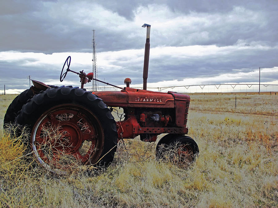 Tractor Photograph - The Old Farmall Tractor 2 by Robin Cox