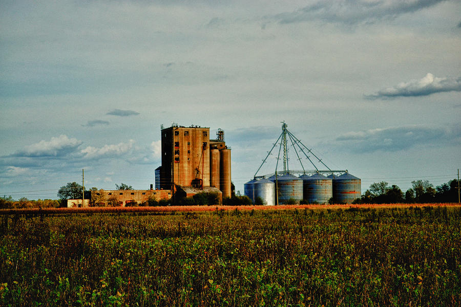 Old Photograph - The Old Grain Mill by Kelly Reber