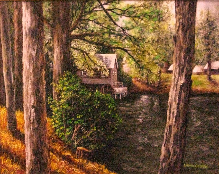 Grist Mill Painting - The Old Grist Mill by Laurie Golden
