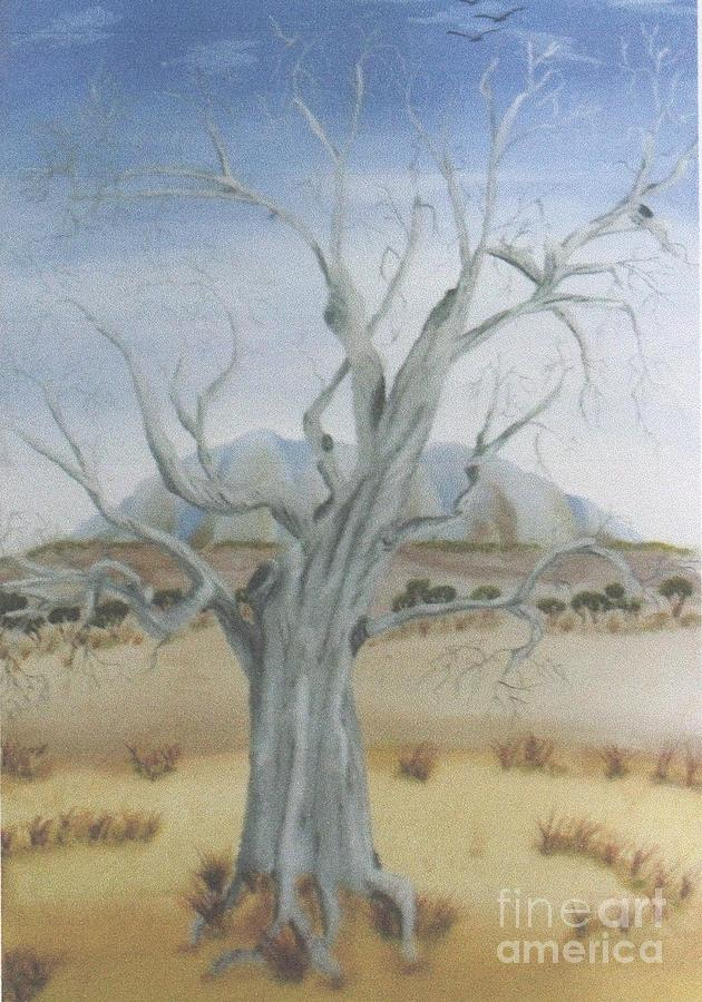 Landscape Painting - The Old Gum Tree by Debra Piro