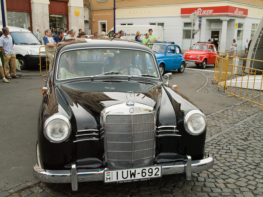 Old Photograph - The Old Mercedes by Odon Czintos