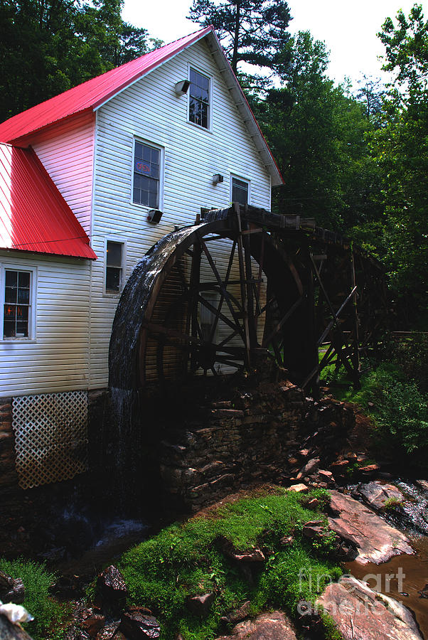 Mill Photograph - The Old Mill 1886 In Cherokee North Carolina - II  by Susanne Van Hulst