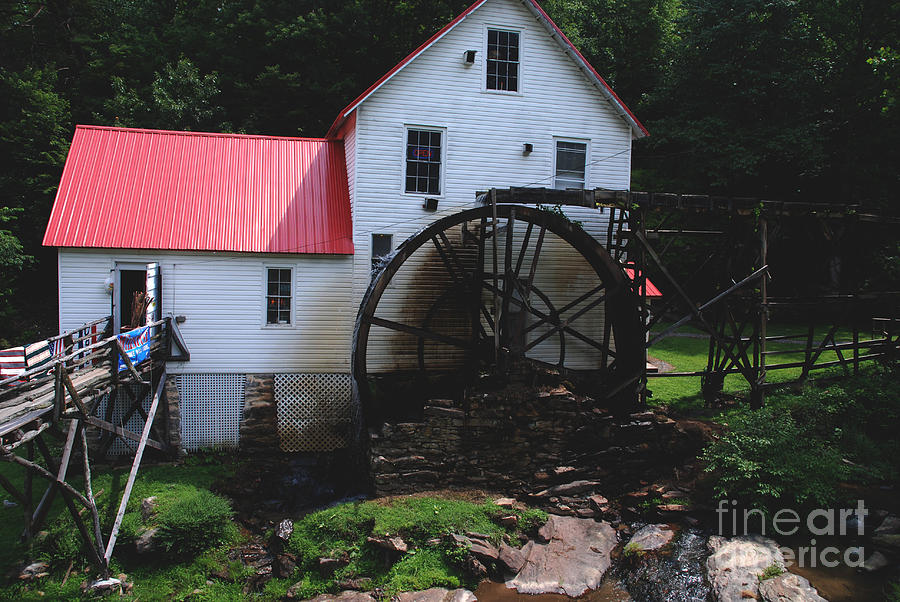 Mill Photograph - The Old Mill 1886 In Cherokee North Carolina by Susanne Van Hulst