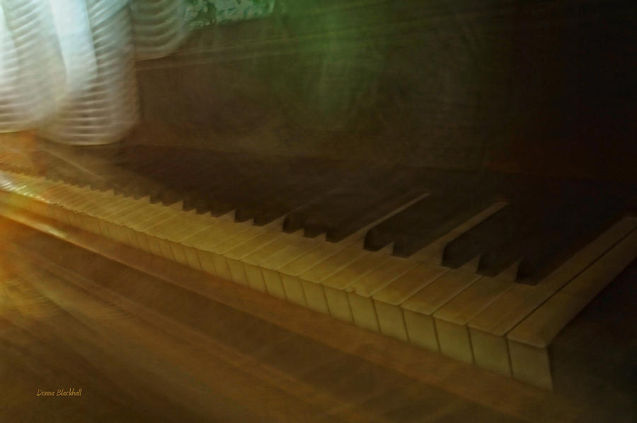 Piano Photograph - The Old Piano by Donna Blackhall