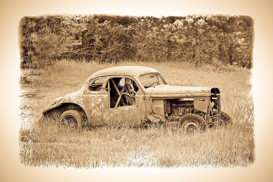 The Old Race Car Photograph by Steve McKinzie