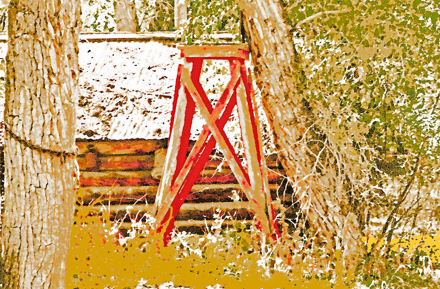 Expressive Photograph - The Old Ranch Tower by Lenore Senior and Dawn Senior-Trask