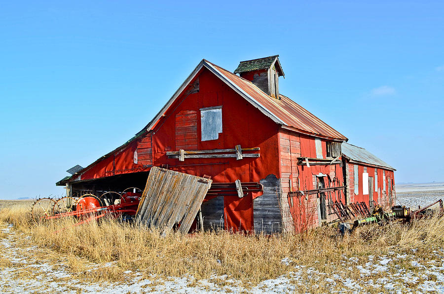 Barn Photograph - The Old Red Barn by Brenda Becker