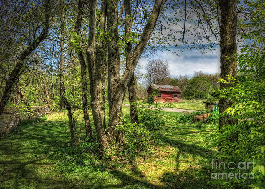 Old Barn Photograph - The Old River Shed by Pamela Baker