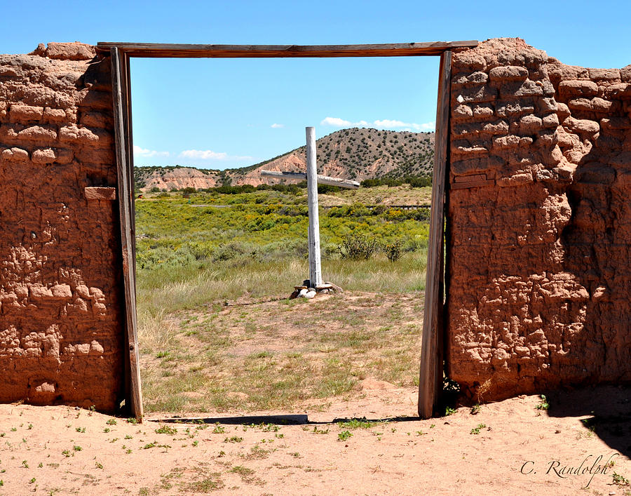 Spanish Mission Photograph - The Old Rugged Cross by Cheri Randolph
