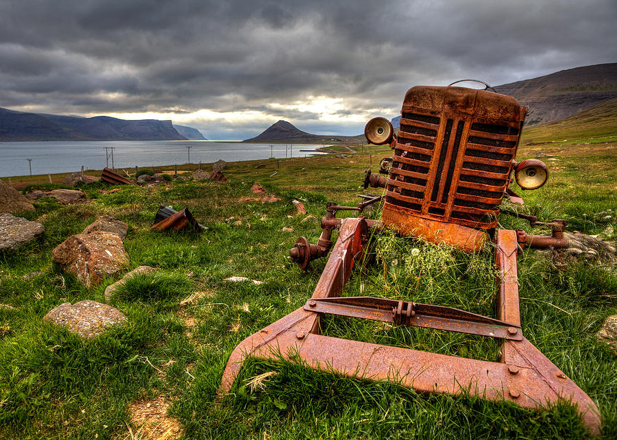 Tractor Photograph - The Old Rust Tractor by Arnar B Gudjonsson