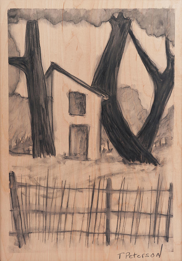 Drawing Pastel - The Old Shed by Todd  Peterson