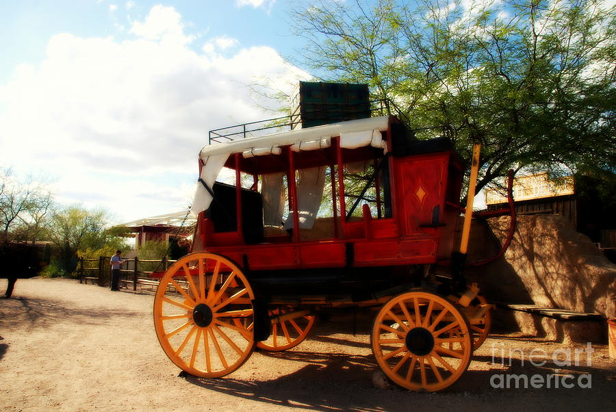 Transportation Photograph - The Old Stage Coach by Susanne Van Hulst