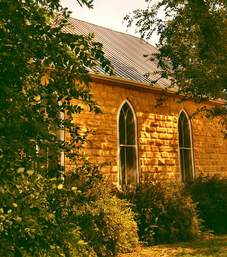 Church Photograph - The Old Stone Church by Lynne and Don Wright
