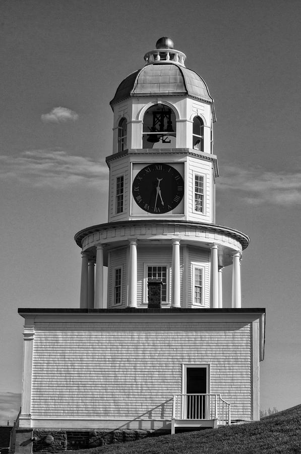 Old Photographs Photograph - The Old Town Clock In Halifax Nova Scotia by Sandra Adamson
