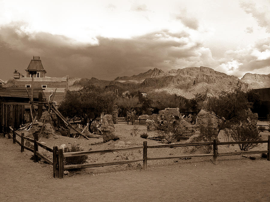 Mountain Photograph - The Old West 1 by Douglas Barnett