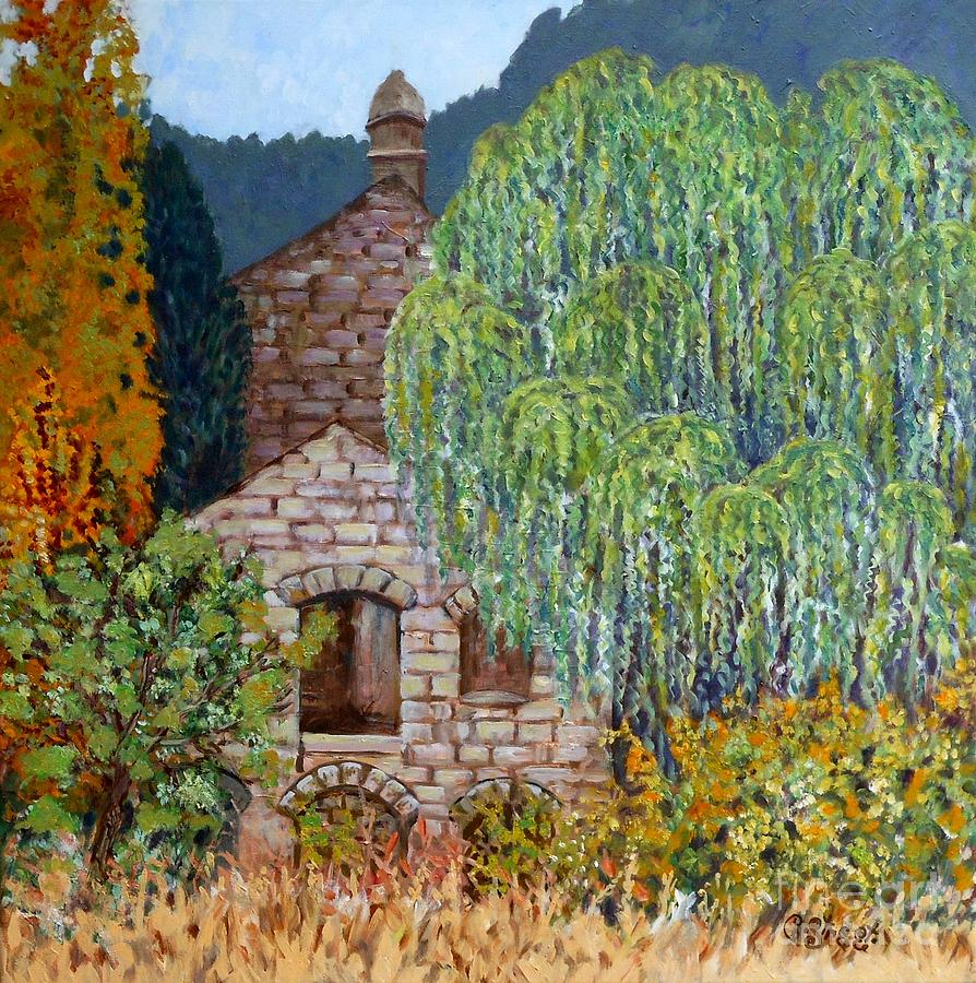 Buildings Painting - The Old Willow Tree by Caroline Street