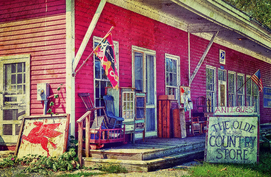 Country Store Photograph - The Olde Country Store by Kathy Jennings