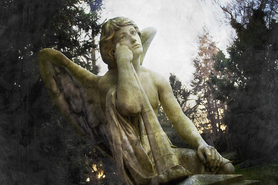 Angel Photograph - The One Angel by Marc Huebner