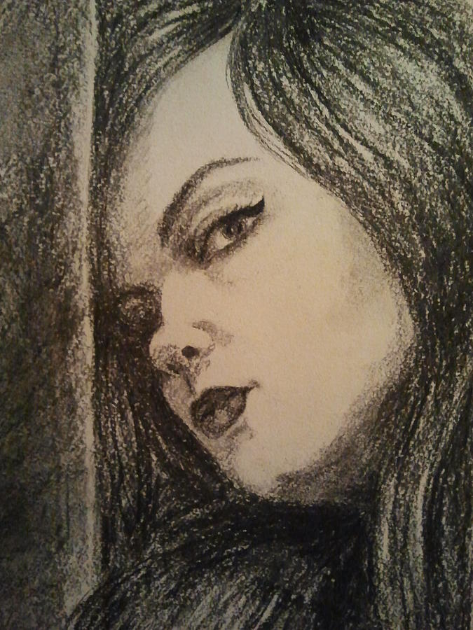 The Drawing - The One That Got Away by Nadja Pilitsyna