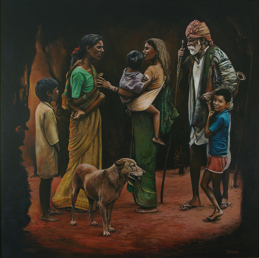 India Painting - The Onlookers Reflection by Tim Thorpe