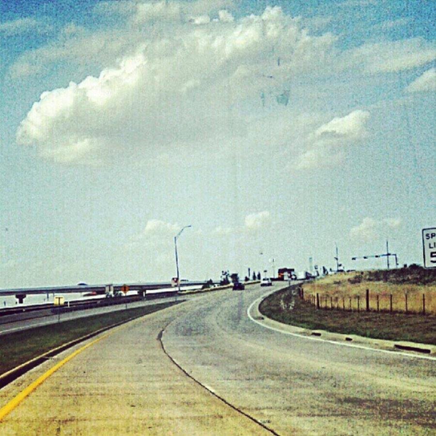 Hdr Photograph - The Open Road #notraffic #random #hdr by Kel Hill