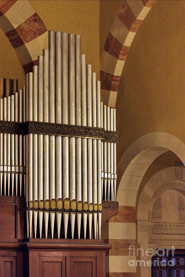 Psi Photograph - the Organ Augusta Victoria Jerusalem by Vladi Alon