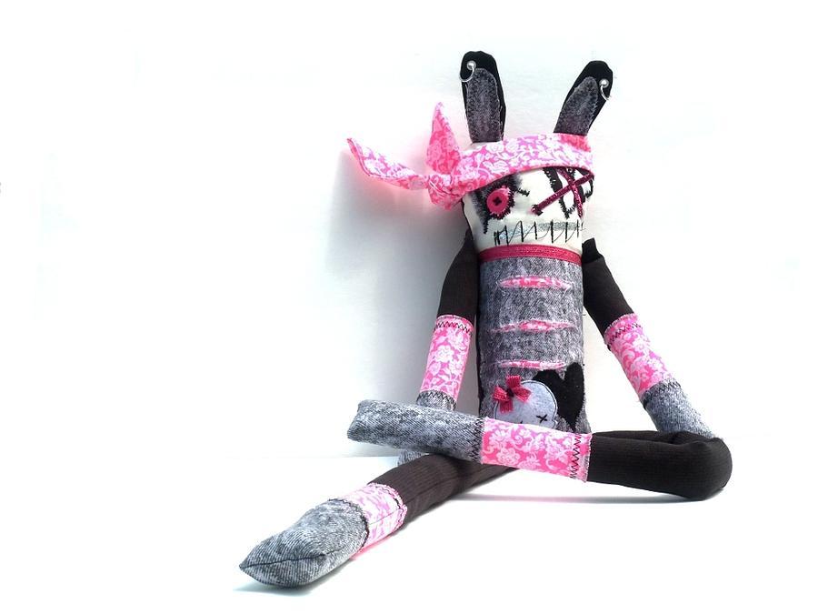 Doll Sculpture - The Original Gangsta Zombie Jenni Rump-thumpin Jamma by Oddball Art Co by Lizzy Love