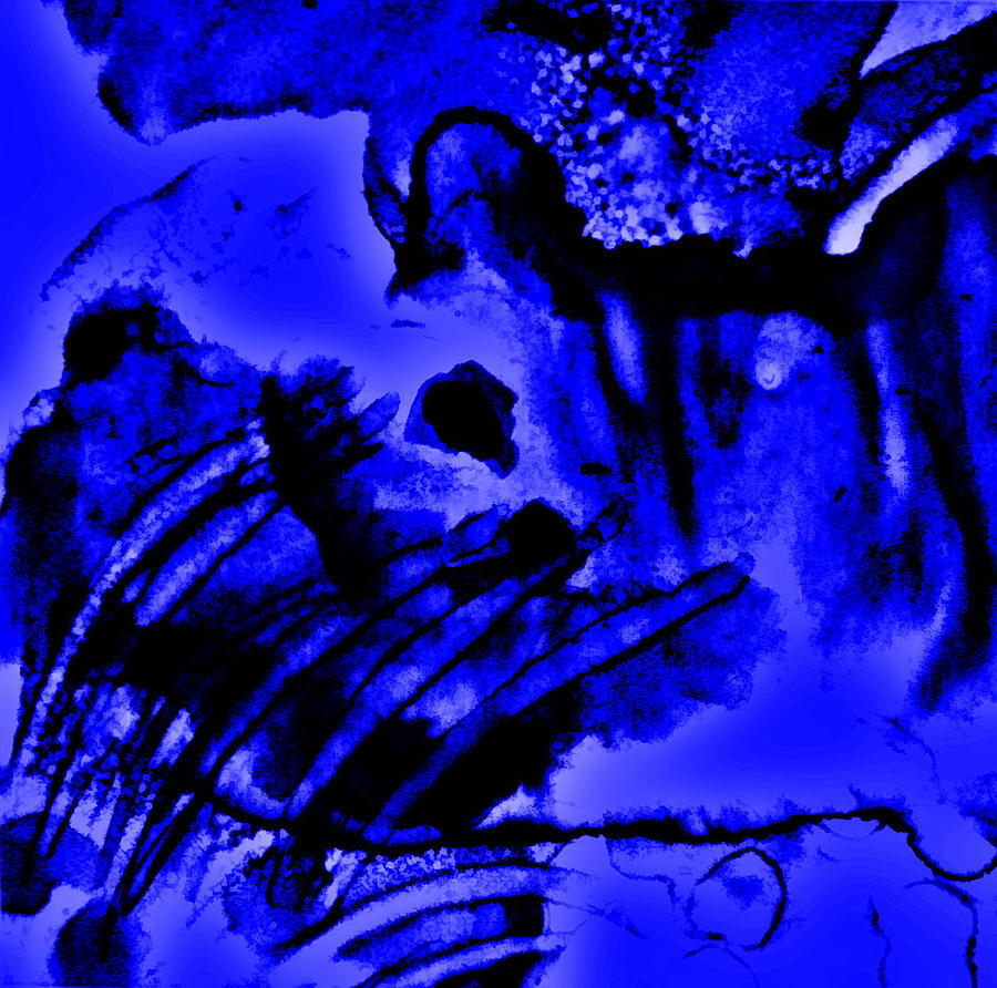 Abstract Mixed Media - The Origins Of Blue by Rory Sagner