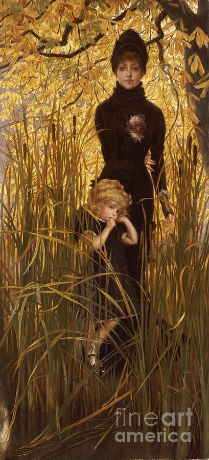 Portrait Painting - The Orphan by James Jacques Joseph Tissot