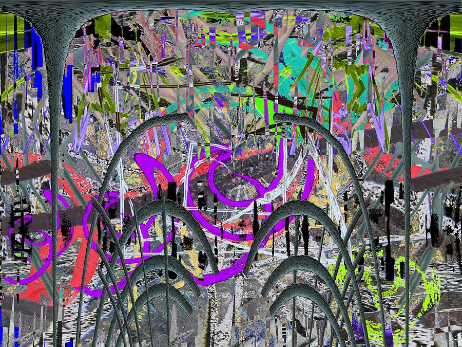 Abstract Digital Art - The Other Side Of The Coin by Tim Allen