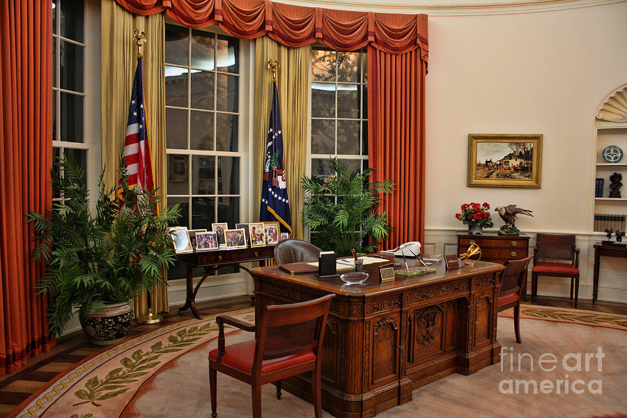 oval office paintings. Ronald Reagan Photograph - The Oval Office By Tommy Anderson Paintings T