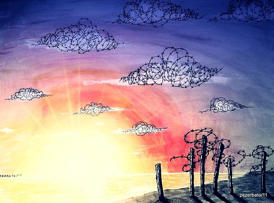 The Pain Digital Art - The Pain Of Sky That Will Never Be Calm by Paulo Zerbato