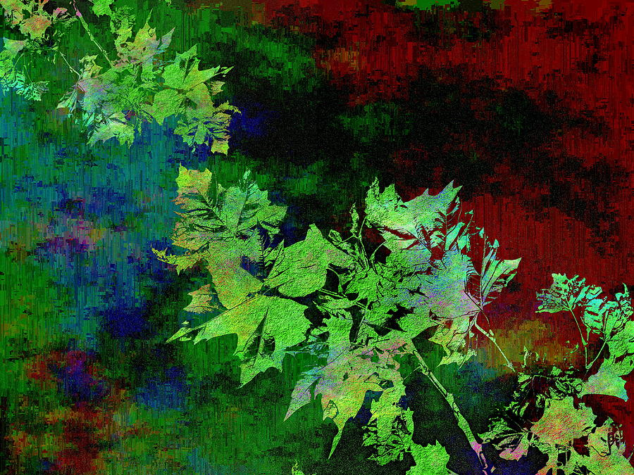Abstract Digital Art - The Painted Arbor by Tim Allen