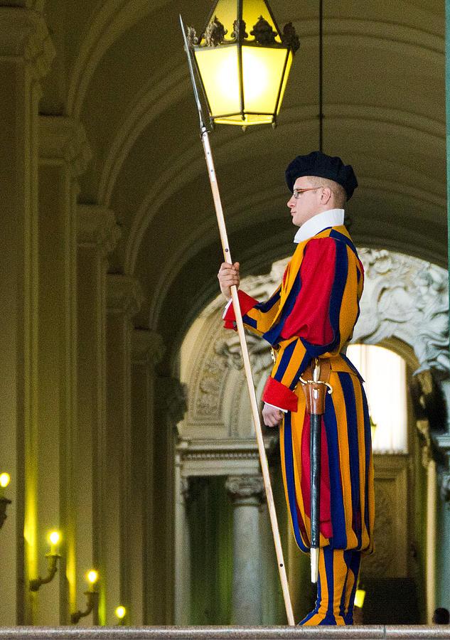 Swiss Guard Photograph - The Papal Swiss Guard by Jon Berghoff