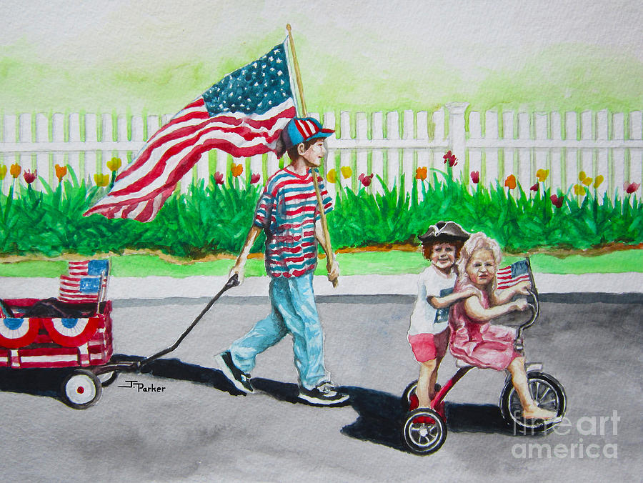 Flag Painting - The Parade by Parker Jim