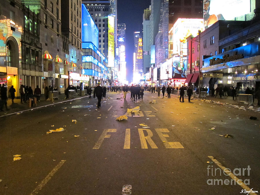 New York City Photograph - The Party Is Over by Robin Ziegelbaum