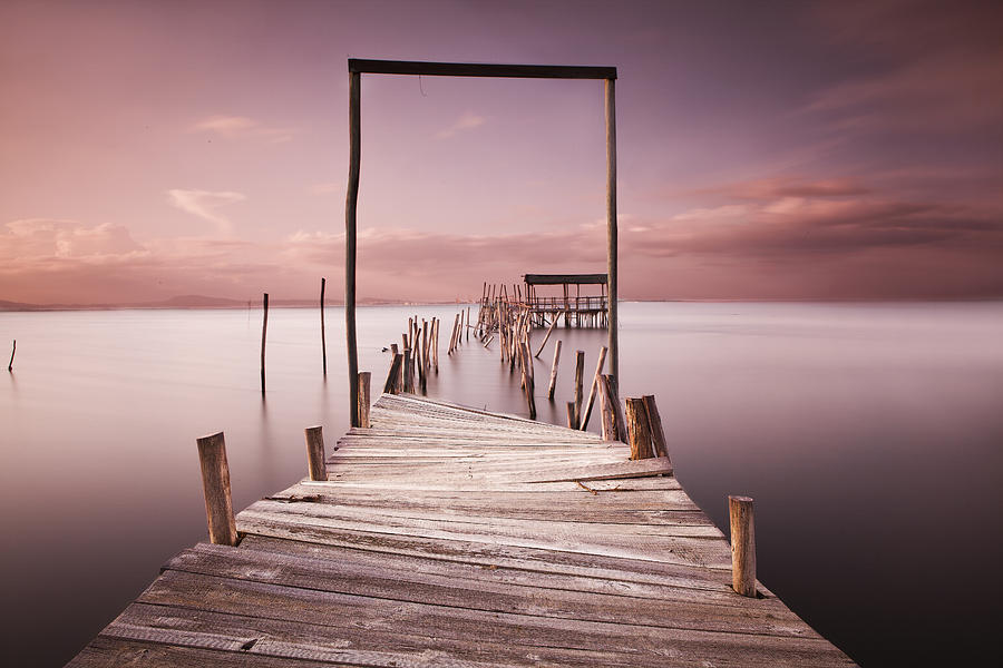 Pier Photograph - The Passage To Brightness by Jorge Maia