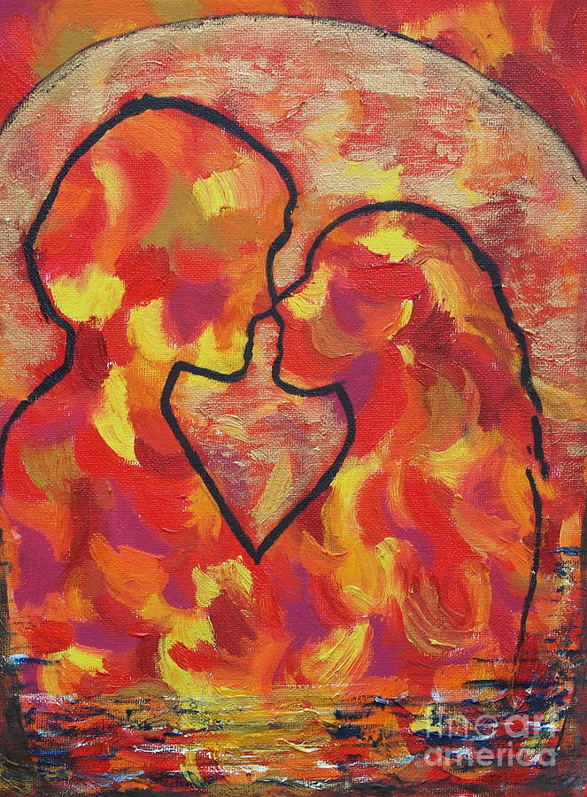 Romance Painting - The Passion Of Romance by Evolve And Express