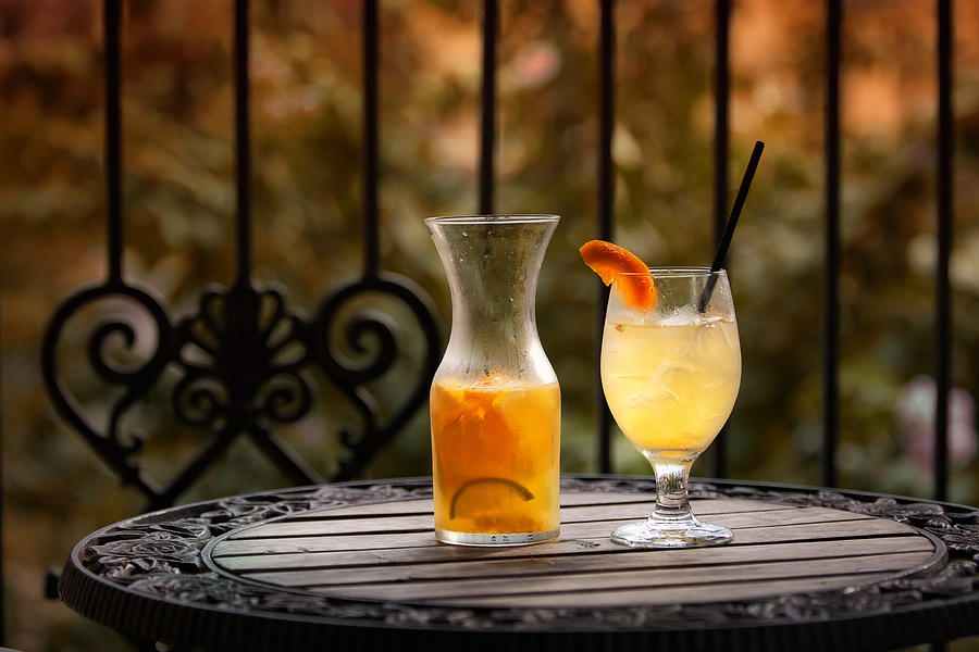 Sangria Photograph - The Patio by Brenda Bryant