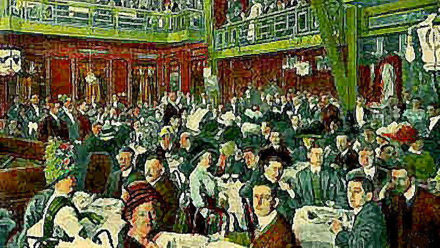 Restaurants Painting - The Peking Restaurant In New York City In 1913   by Dwight Goss