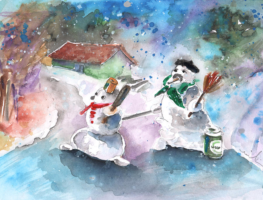 Travel Painting - The People From The Troodos Mountains by Miki De Goodaboom